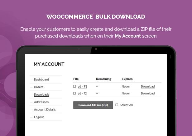 Woocommerce Bulk Download 1