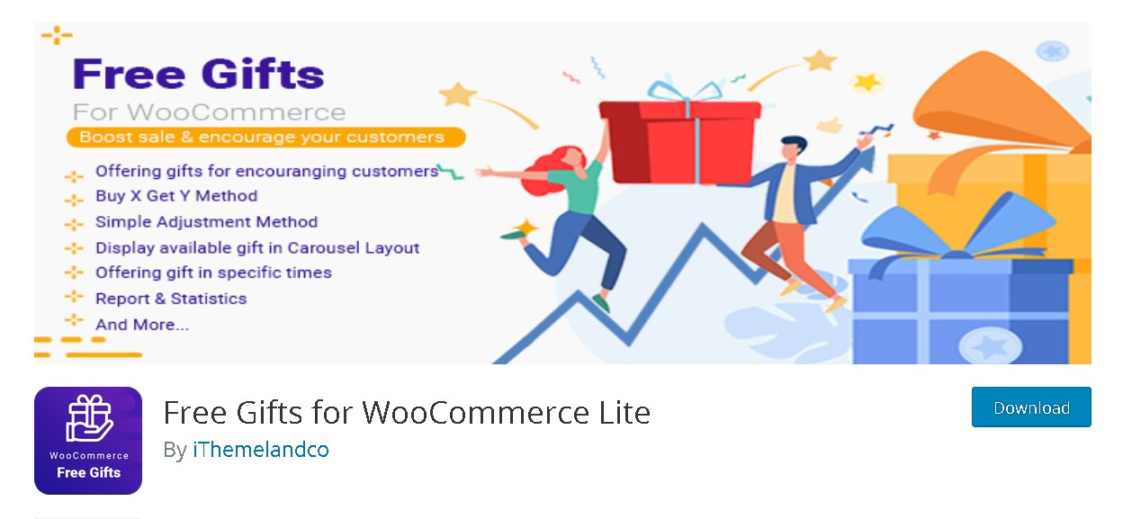 download free version of Free Gifts for WooCommerce