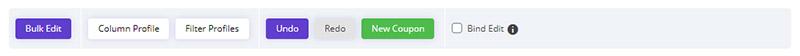 Undo / Redo changes in WooCommerce Bulk Coupons Editing