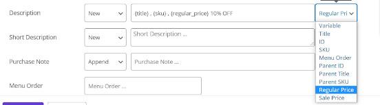 set a new value for product description