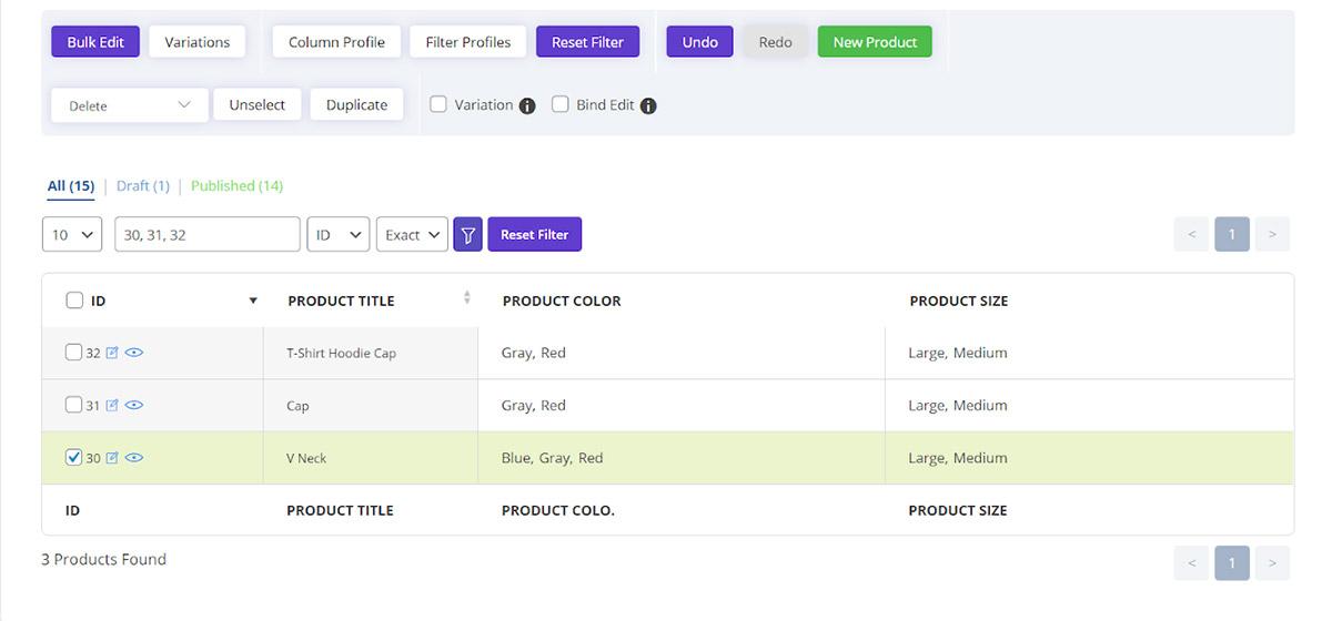 Bulk edit attributes by woocommerce bulk product editing