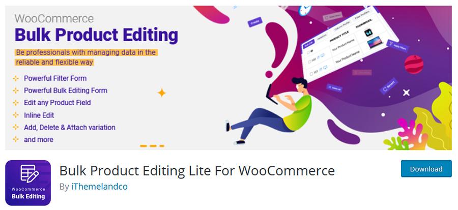 download woocommerce bulk product free version