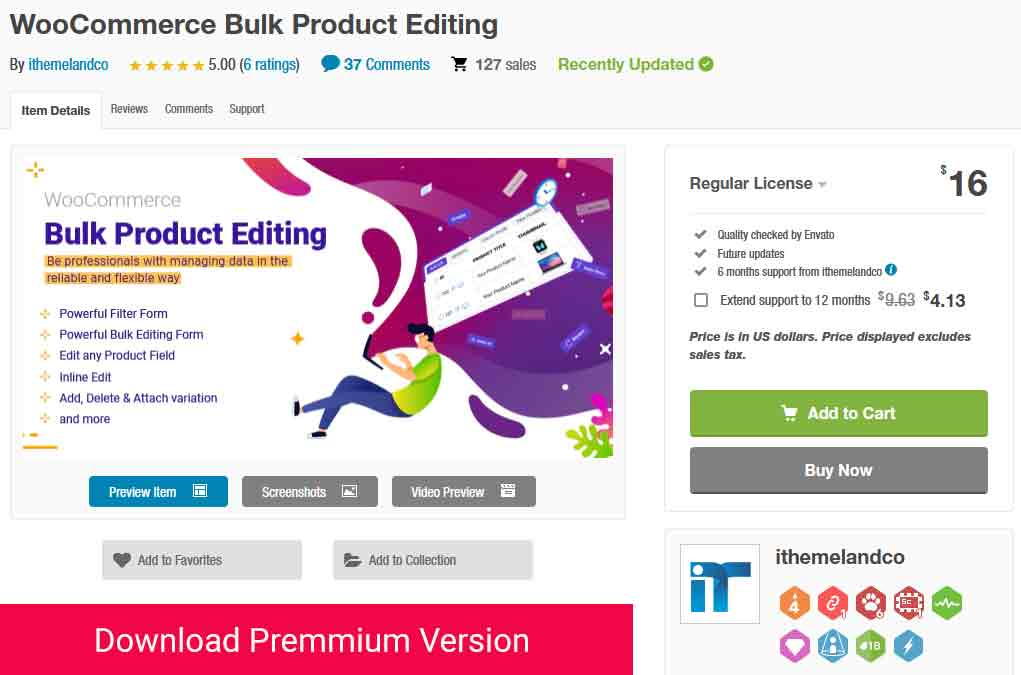 download woocommerce bulk product editing form codecanyon