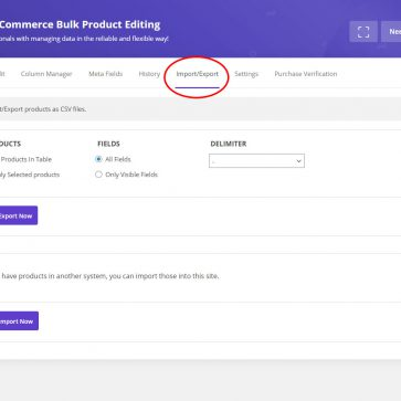 woocommerce bulk edit export products
