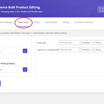 woocommerce bulk edit meta field