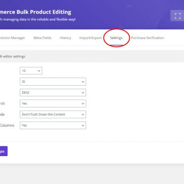 woocommerce bulk edit settings