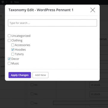 woocommerce bulk edit category edit