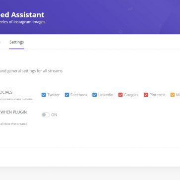 Social Feed Assistant Setting