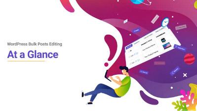 WordPress bulk Post editing at a galance tutorial video