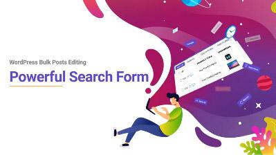 WordPress bulk Post editing search form tutorial video