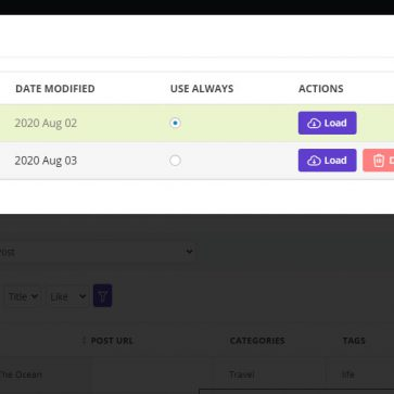 wordpress bulk posts edit filter profile