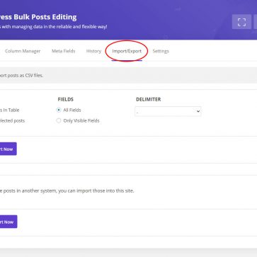 wordpress bulk posts edit import posts