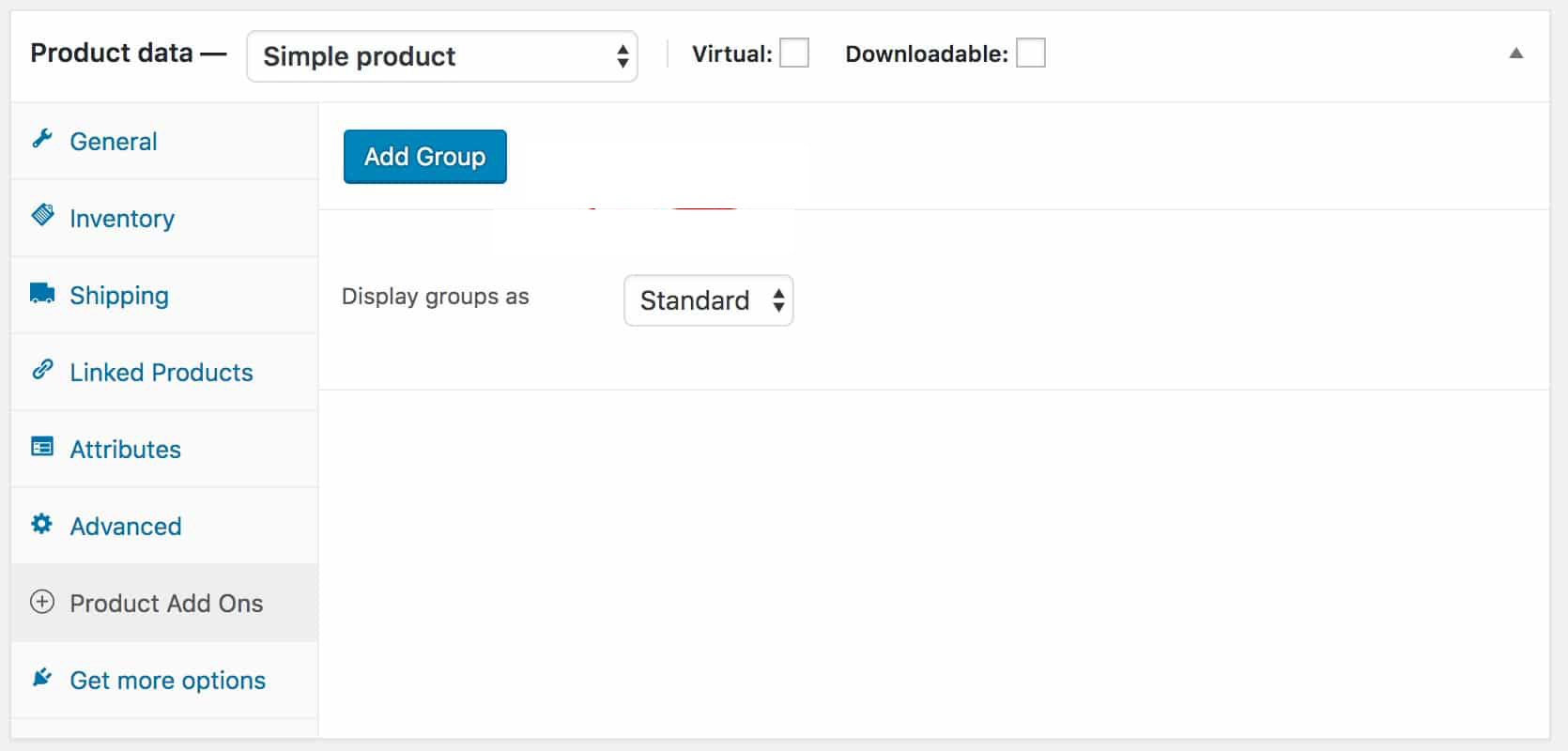 add field group in product addons ultimate