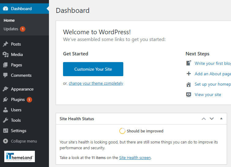 Wordpress right menu