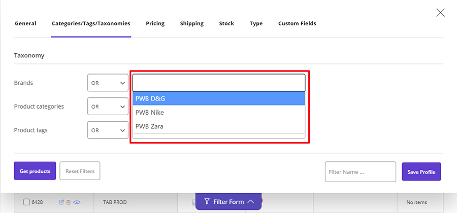 woocommerce bulk product editing acf filter