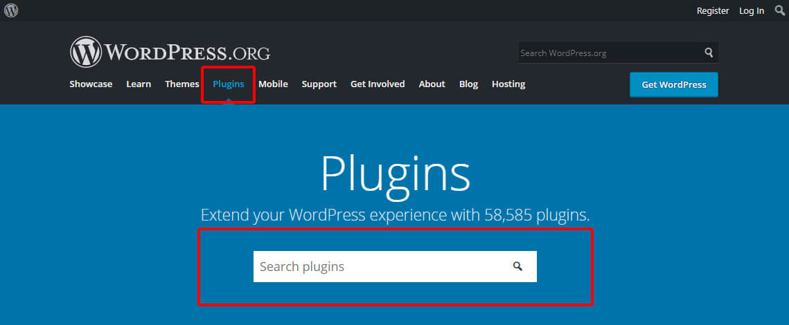 Find your desired plugin from WordPress plugin directory