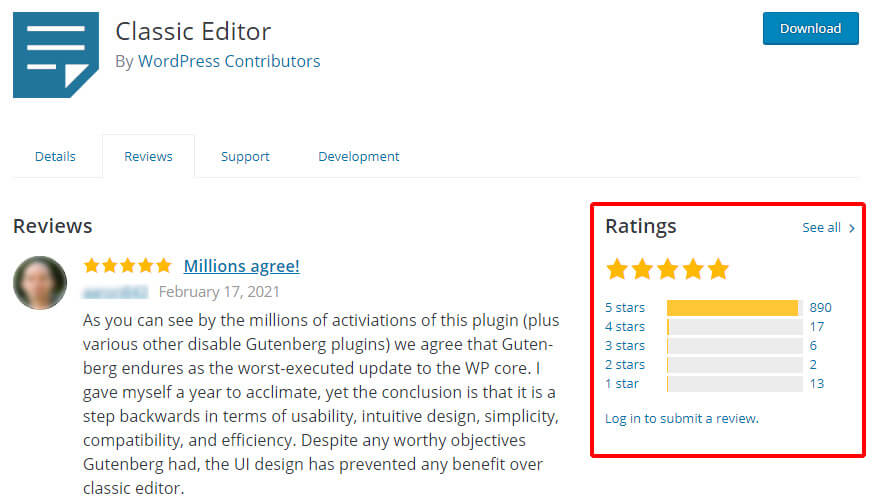 We can trust a plugin if most users were satisfied after installing that