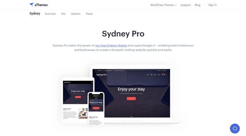 Sydney theme demo page