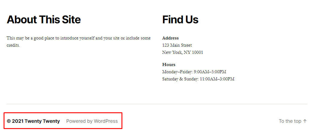look at the footer to find wordpress theme name