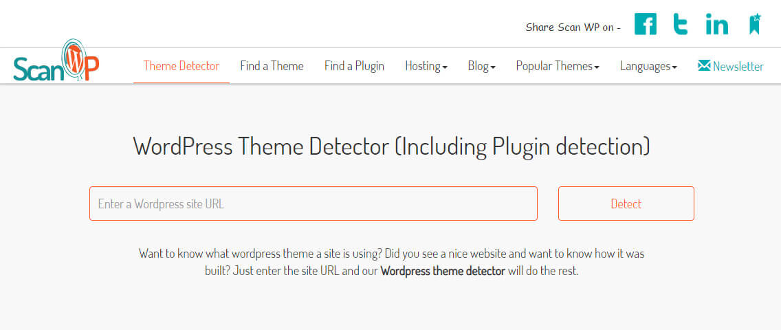 ScanWp themeand plugin detector tools