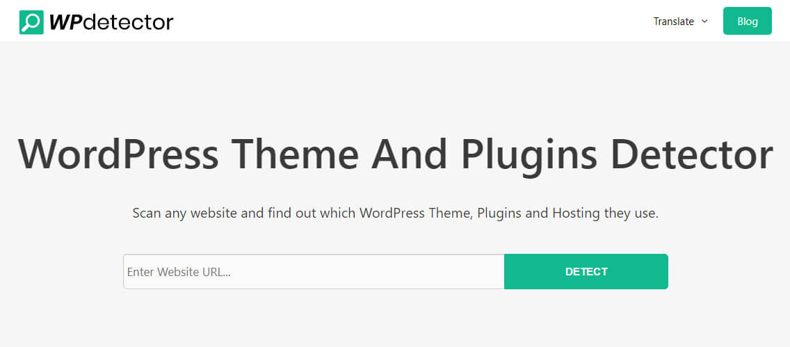 WpDetector is a strong tool for identifying the installed theme and plugins on a website