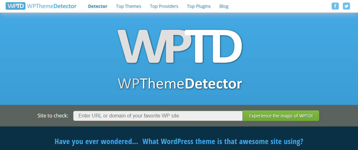 WP Theme Detector to find WordPress theme is use on website