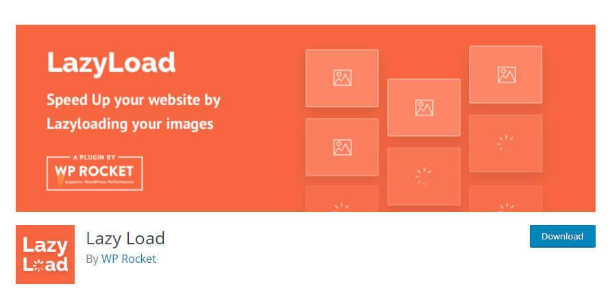 Lazyload by WP Rocket plugin in WordPress