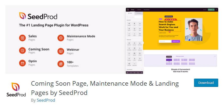 SeedProd plugin in wordpress