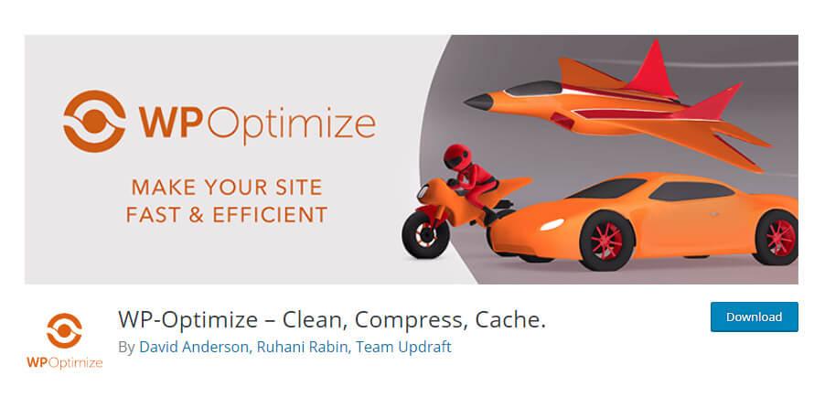 WP-Optimze plugin in WordPress
