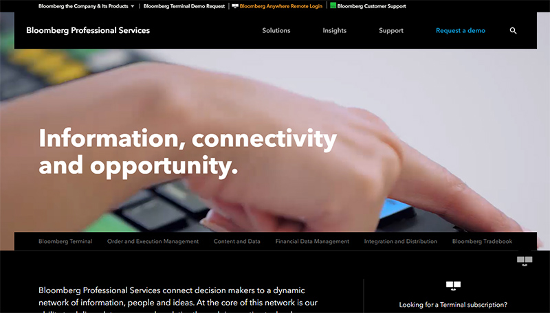 Bloomberg Professional Website by wordpress