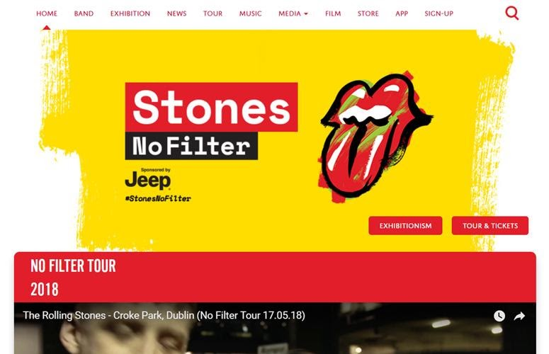 The Rolling Stones by wordpress