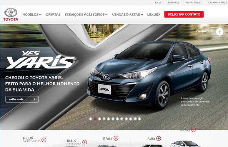 Toyota Motors Brasil by wordpress