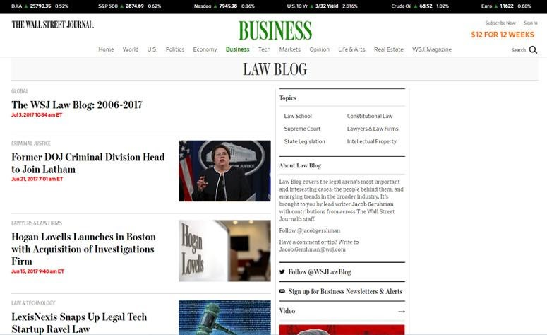 The Wall Street Journal Law Blog by wordpress