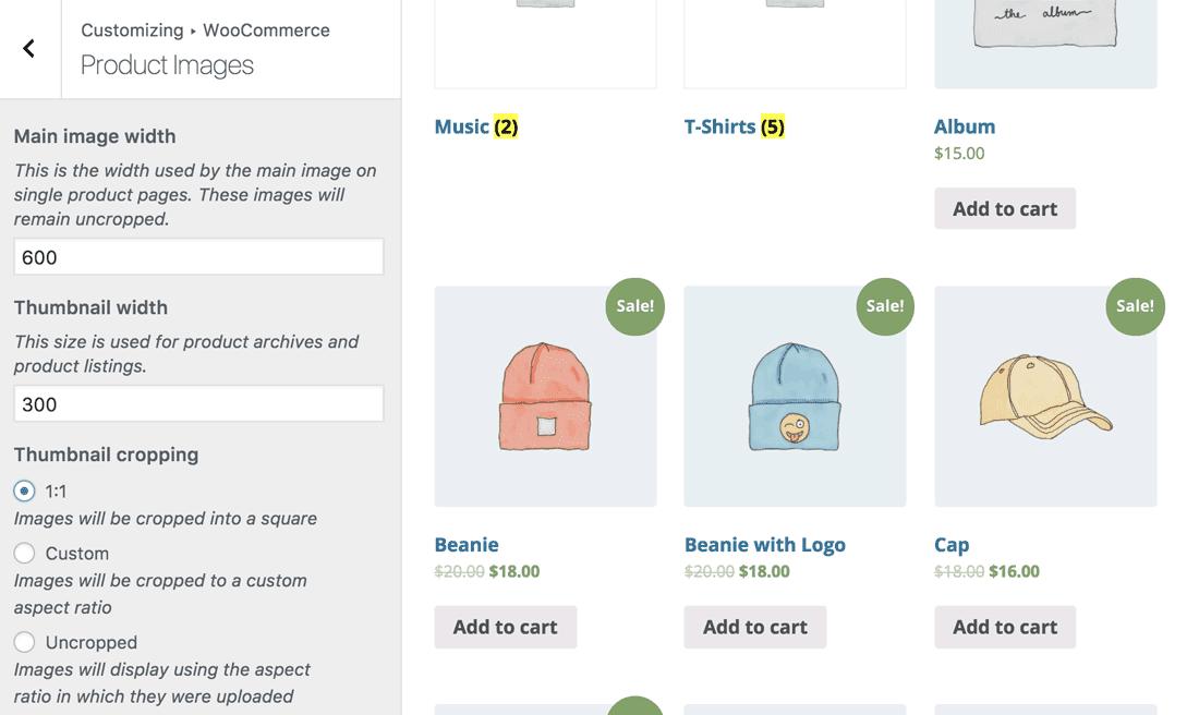Customizing WooCommerce's Product Images through the WordPress Customizer