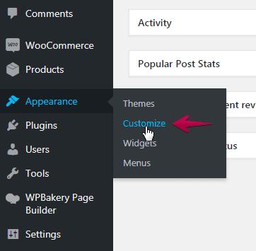 customize woedpress theme