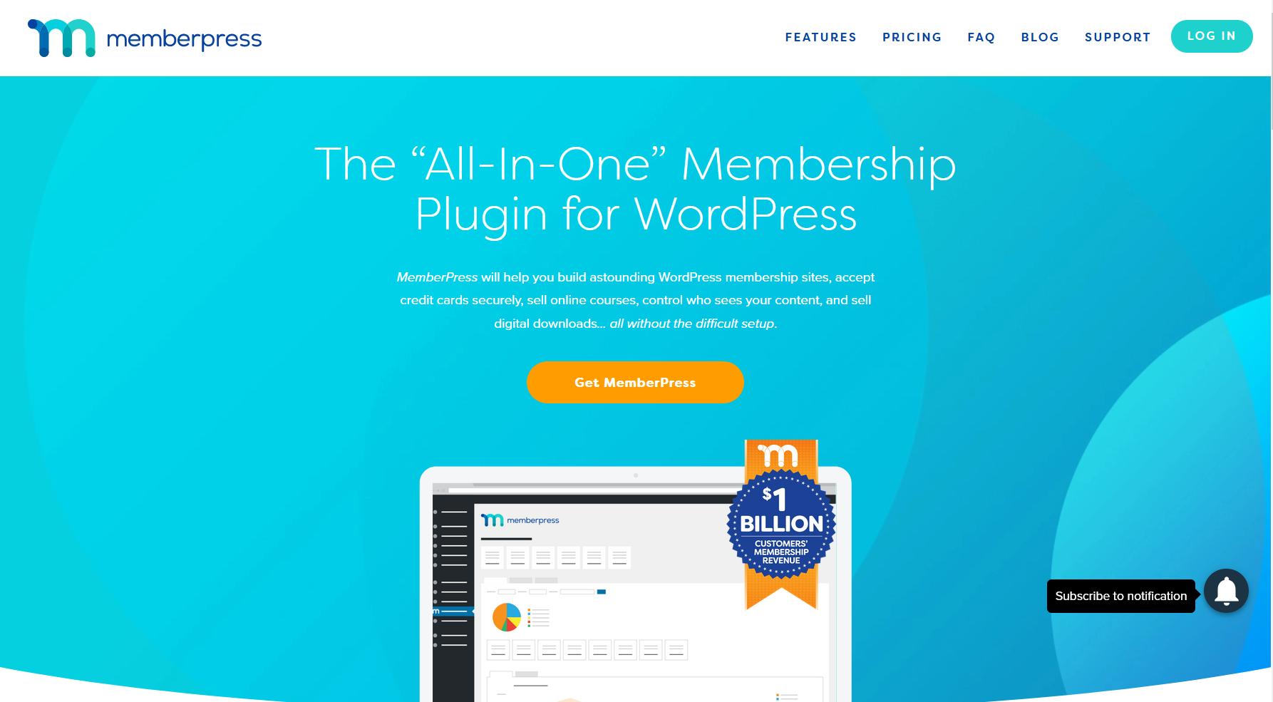 MemberPress all in one membership plugin