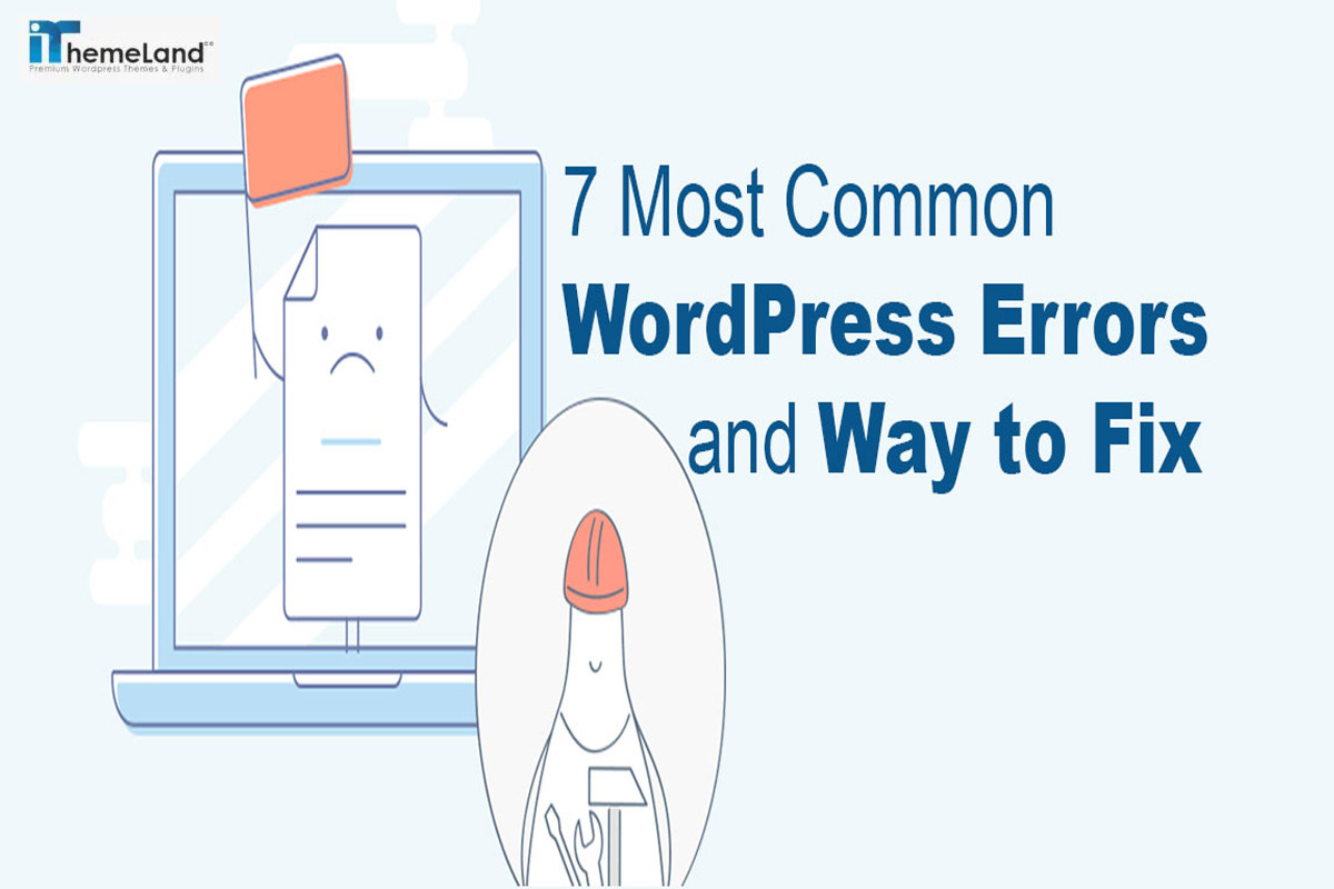 Most Common WordPress Errors With Their Solutions