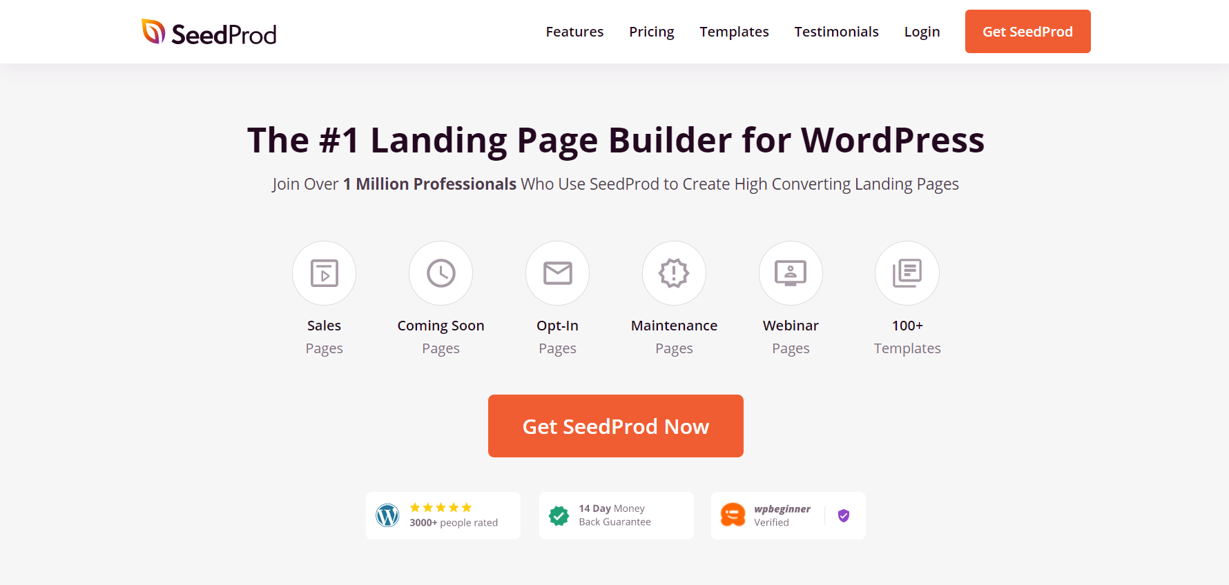 SeedProd is the Best landing page builder plugin