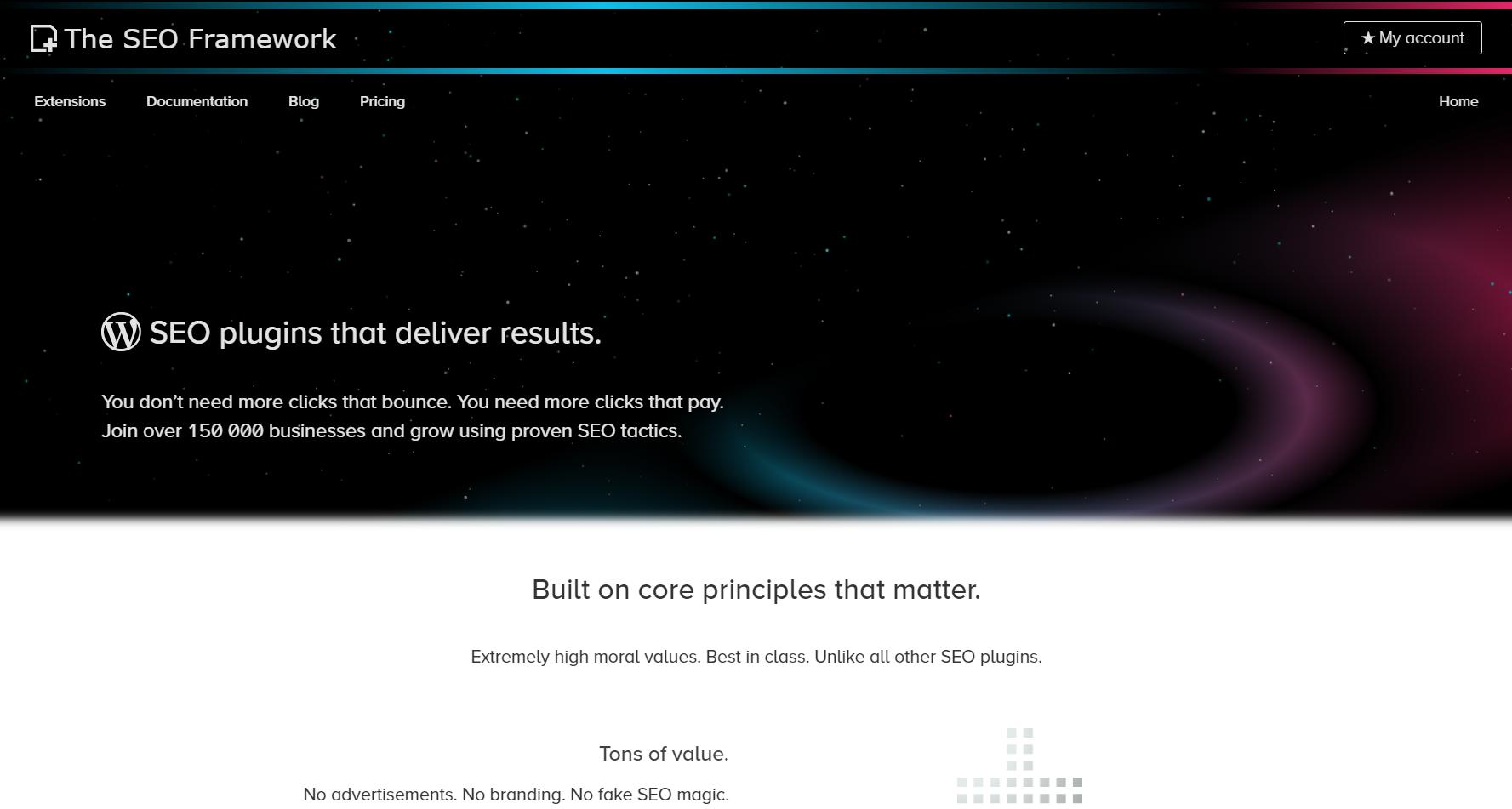 the seo framework: best WordPress SEO plugin