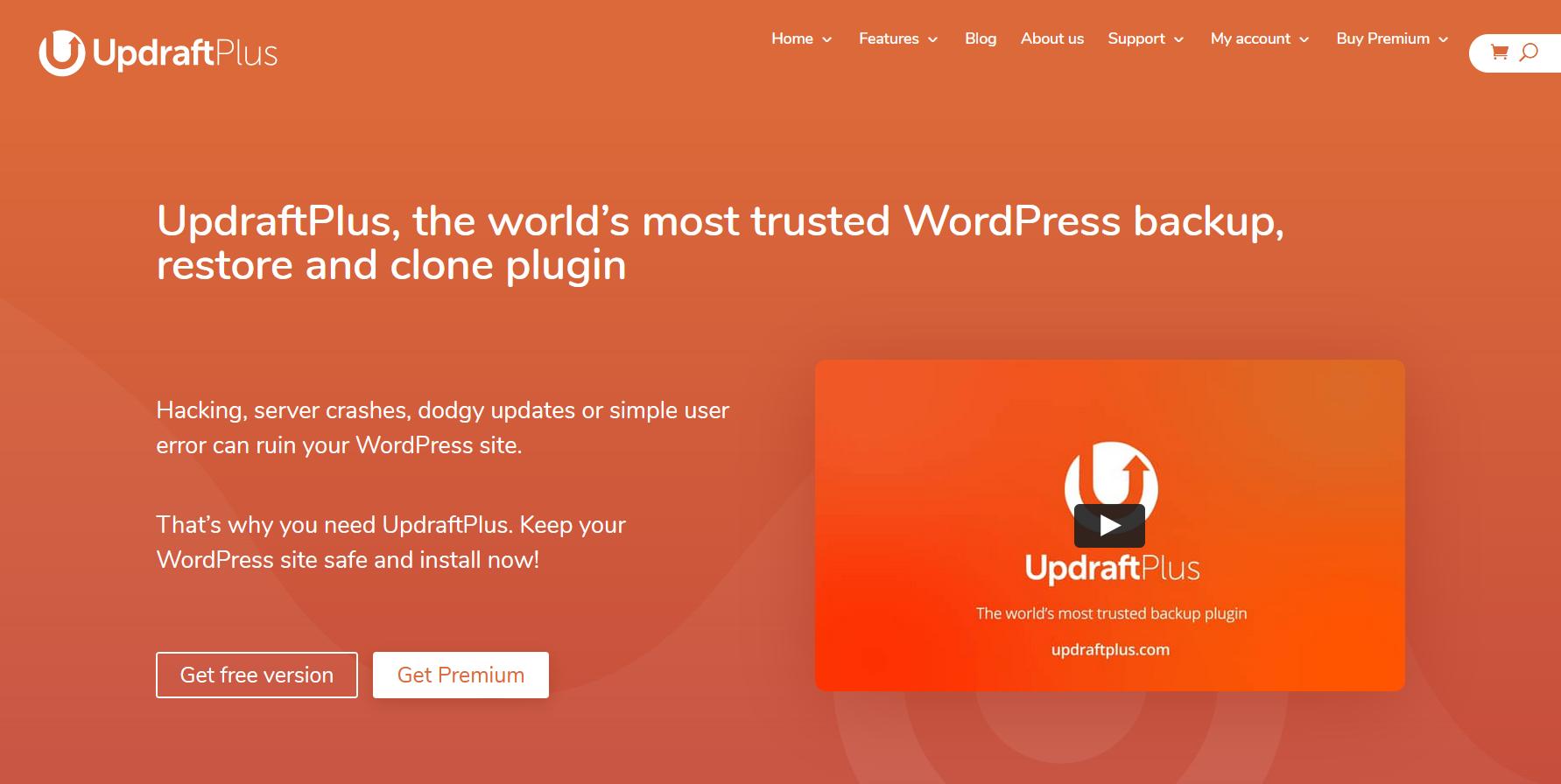 updraft plus plugin:  best backup plugin to keep your data safe