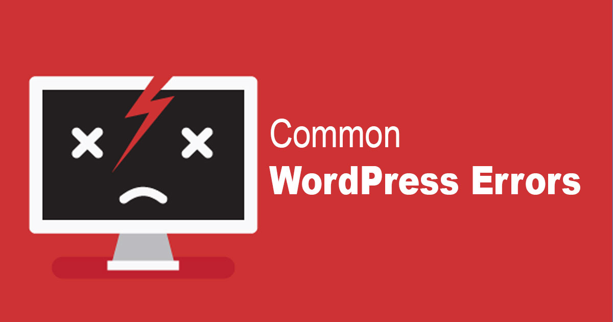 What are the most common errors of WordPress?