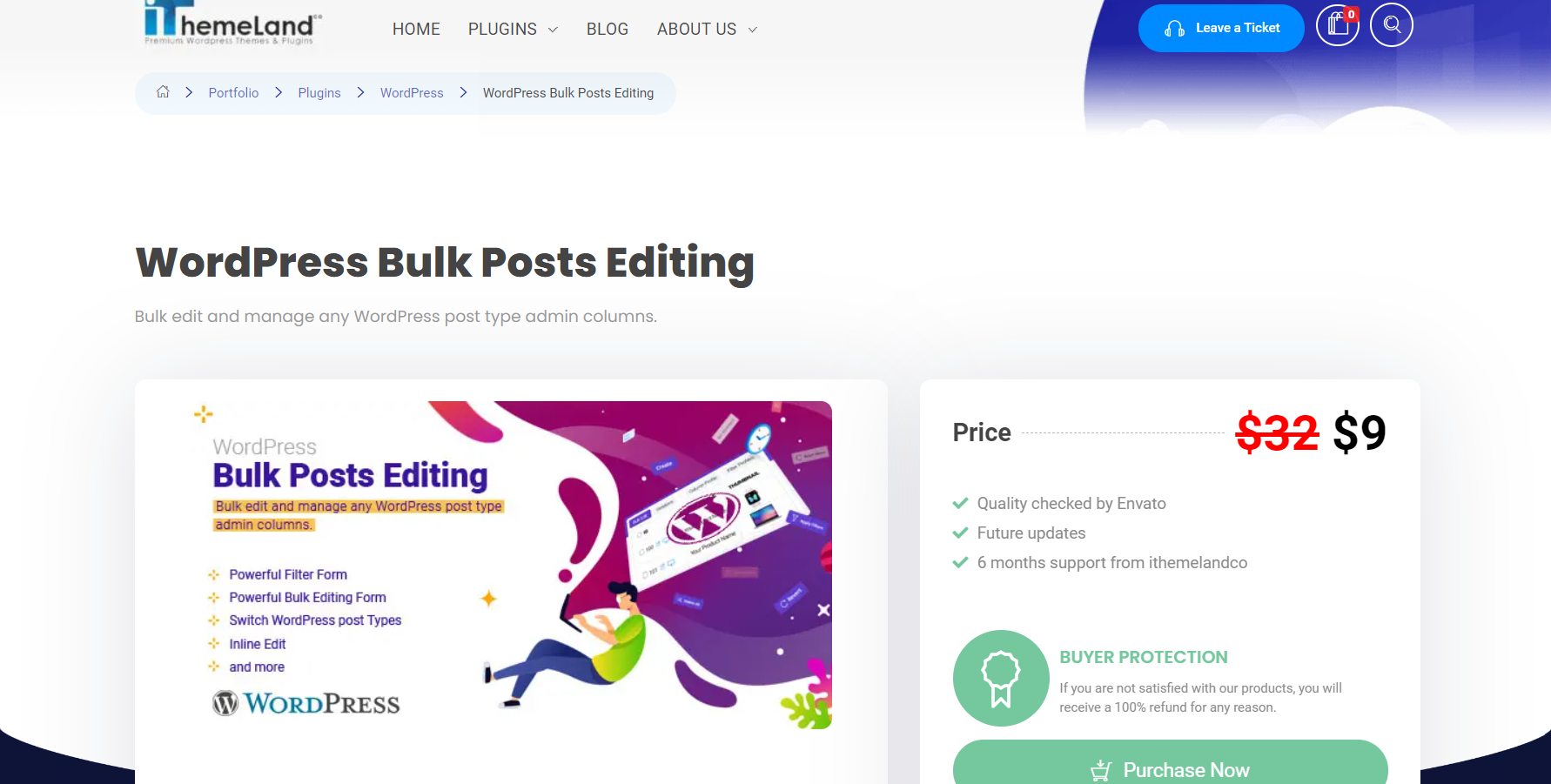 iThemlandco WordPress Post Bulk Edit plugin