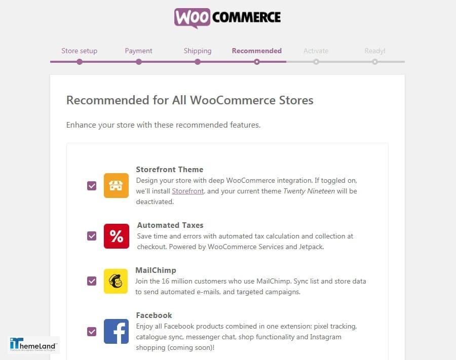 Woocommerce recommended setup