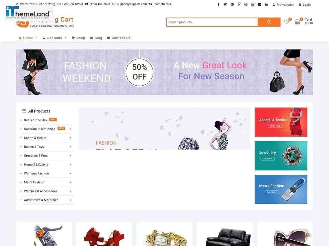 ShoppingCart theme