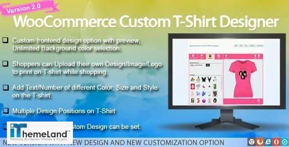 WooCommerce custom t-shirt Designer plugin
