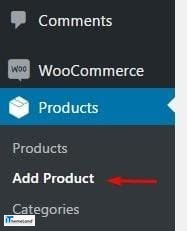 add product in woocommerce