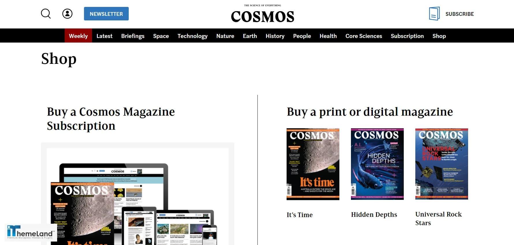 cosmos shop store
