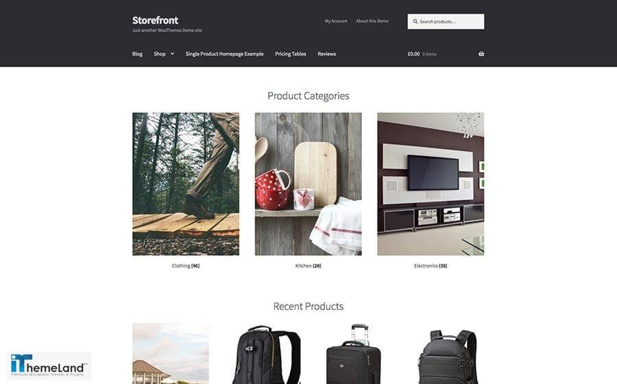 Storefront Free WooCommerce Theme