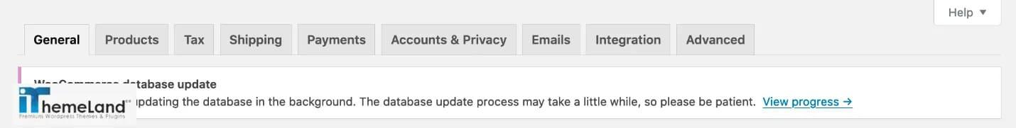 WooCommerce Updating admin banner notice