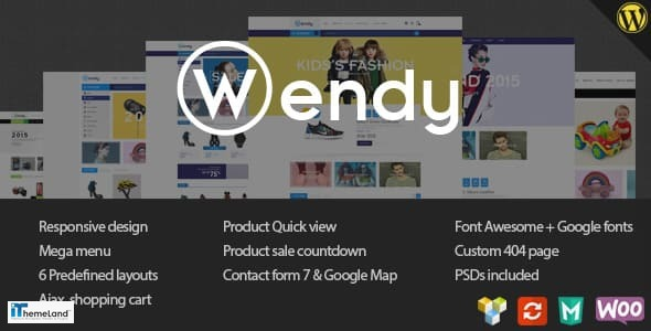 Wendy theme support multisite in wordpress